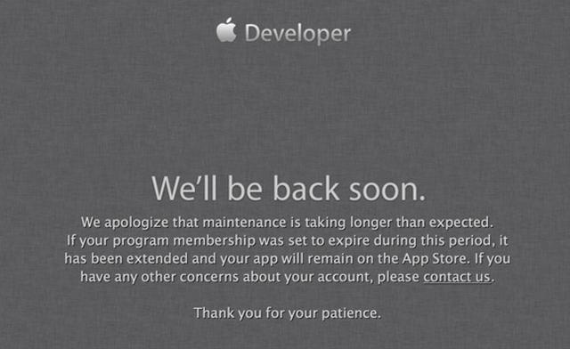 Возобновление работы Developer Center