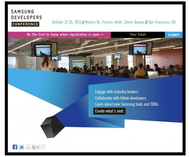 Samsung проведет свою собственную конференцию для разработчиков