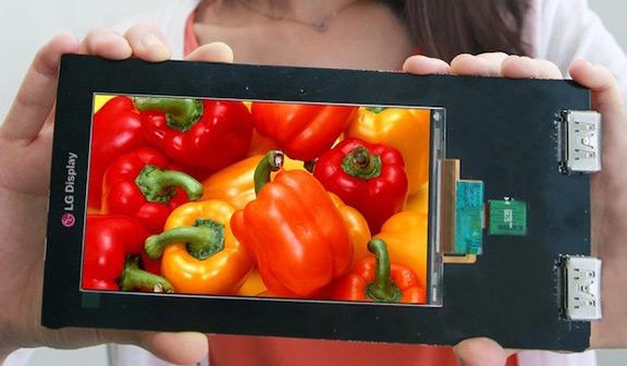 LG представила дисплей для смартфонов с разрешением 2560х1440