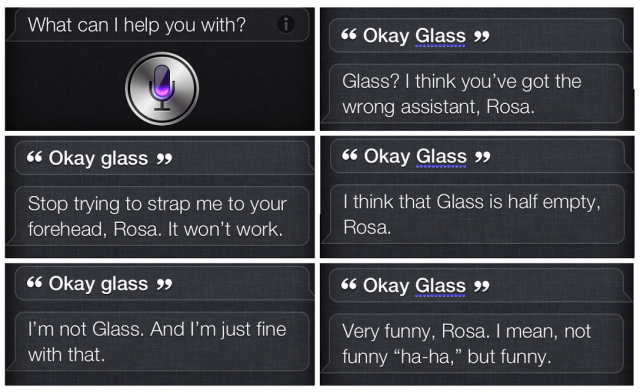 Apple научила Siri шутить про Google Glass