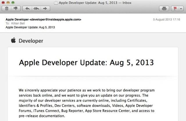 Apple описала планы восстановления обслуживания в обновлении для разработчиков