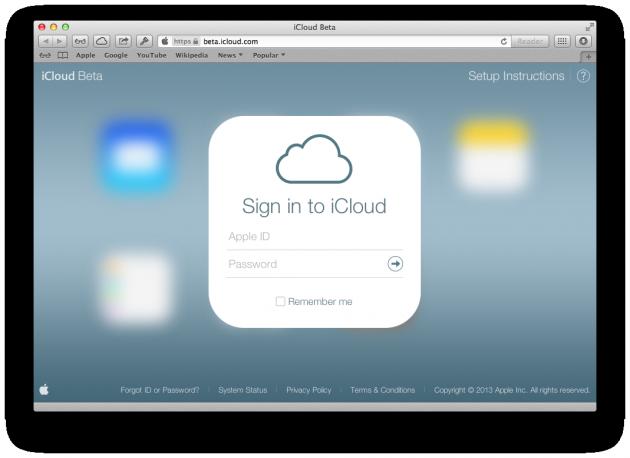 Обновление iCloud