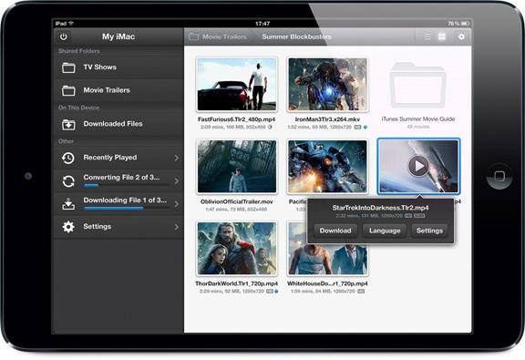 Air Video HD: новое приложение для трансляции и загрузки фильмов с компьютера на iOS