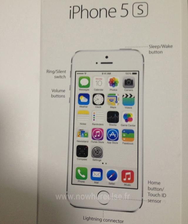 Инструкция iPhone 5S «засветилась» на фото