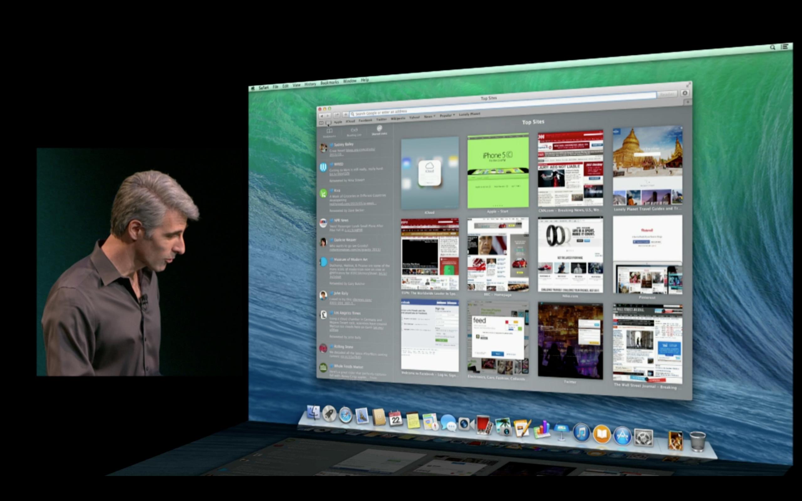 OS X Mavericks — обзор представленого