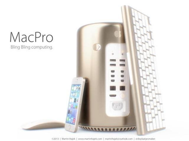 Концепт золотого Mac Pro