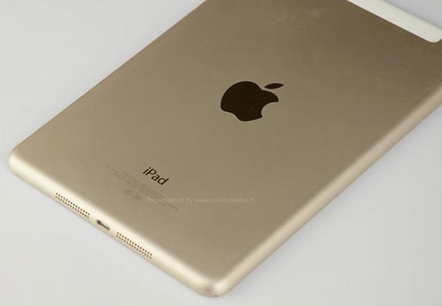Фото нового iPad mini в золотистом исполнении
