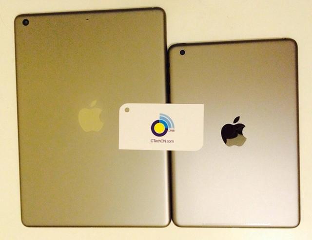 Фото iPad mini 2 и iPad 5 в золотистом исполнении