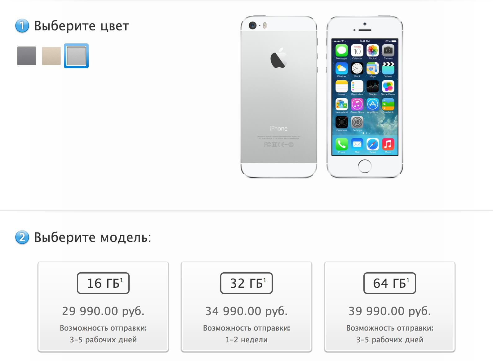 Дефицит на iPhone 5s понемногу падает
