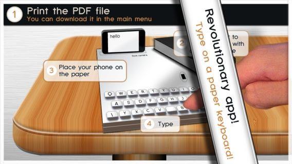 iPhone: Печатайте на собственной бумажной клавиатуре