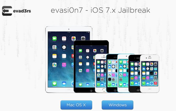 Вышла утилита для джейлбрейка iOS 7.x