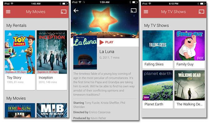 Google Play Movies & TV теперь доступны для iOS