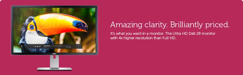 28-дюймовый дисплей '4К' от Dell
