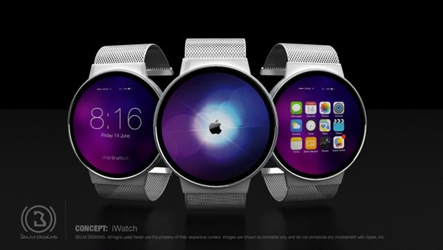 Концепт iWatch с круглым Retina-экраном