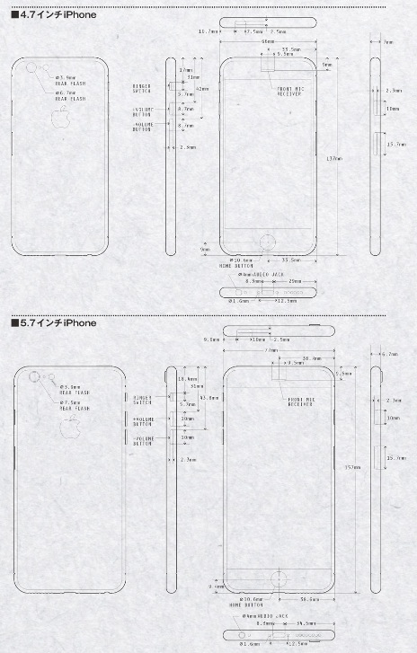 Нашлись чертежи новых iPhone