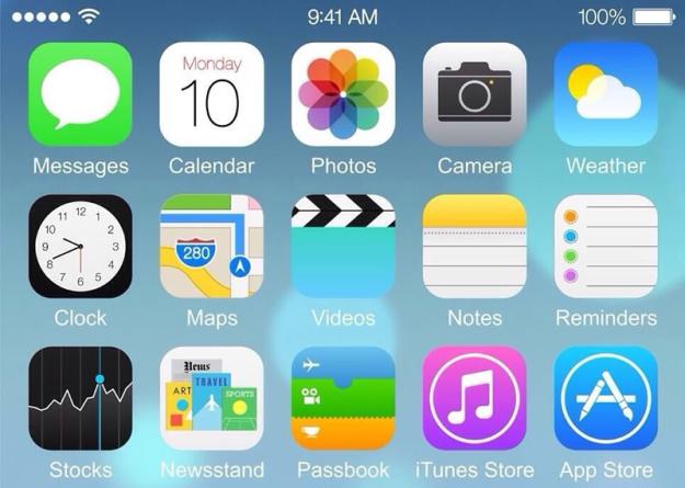 Скриншот iPhone 6 с iOS 8