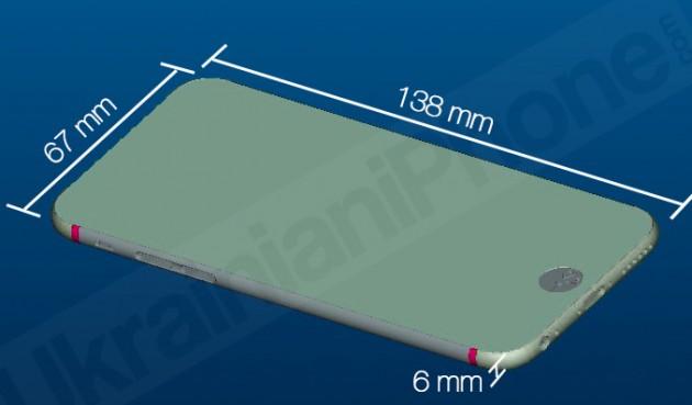 Производственные рендеры корпуса 4.7-дюймового iPhone 6