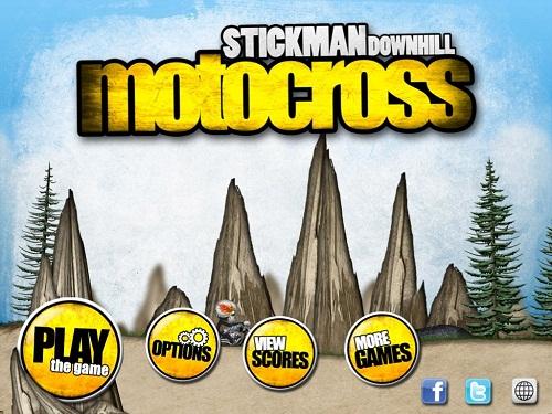Обзор Stickman Downhill Motocross. Только вперед