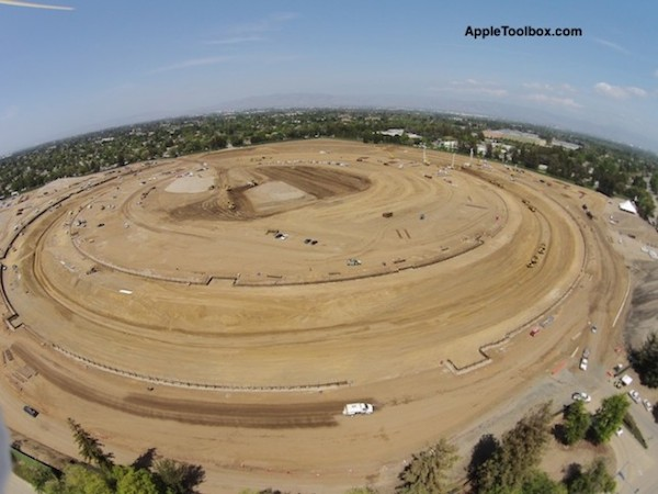 Фото с места строительства новой штаб-квартиры Apple