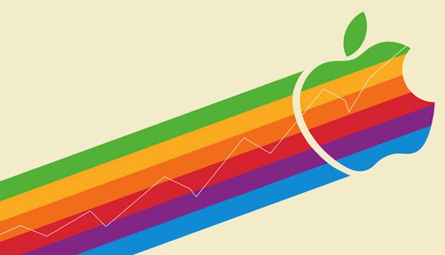 Стоимость акций Apple возросла