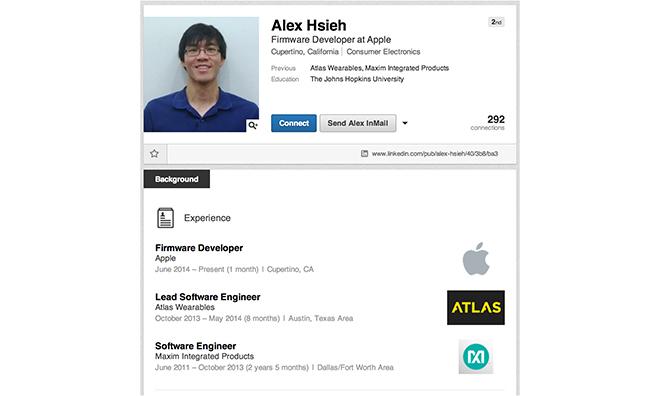Алекс Се – пополнение в команде по разработке iWatch