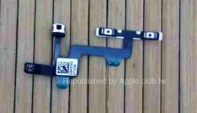 Кнопки регулировки громкости и питания на шпионских фото