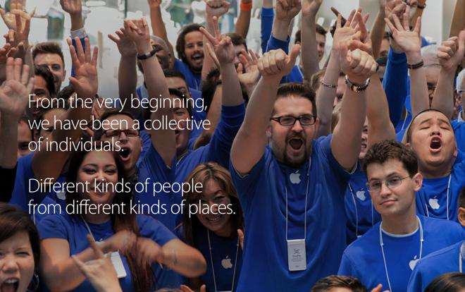 70% работников Apple — мужчины