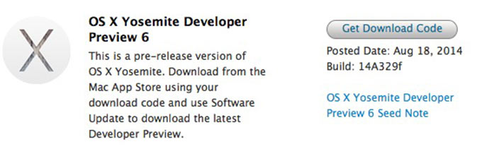 Новые beta-версии iOS 8 и OS X Yosemite