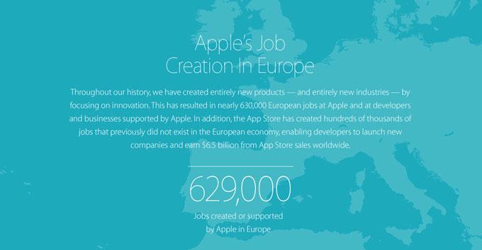 Apple обновила отчет о созданных рабочих местах