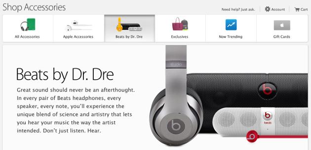 В Apple Store появилась секция с наушниками Beats