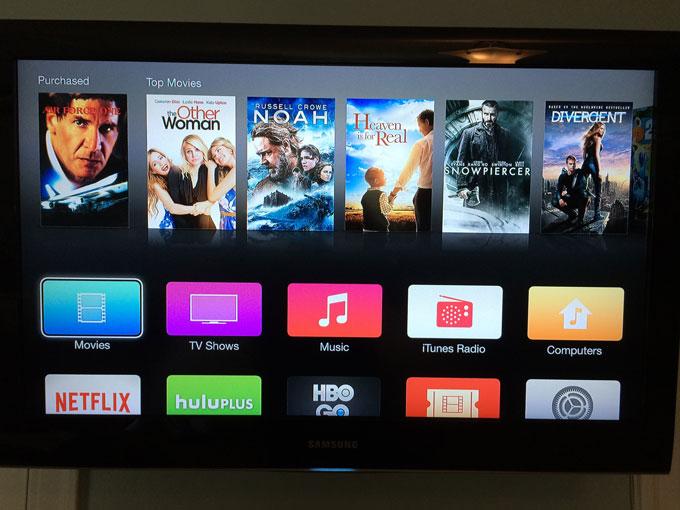 Apple TV получила дизайн iOS 7