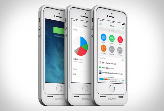 Практичные аксессуары к iPhone 5S: чехол с аккумулятором