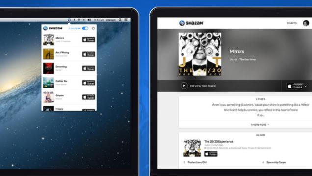 Shazam запустил клиент на Mac
