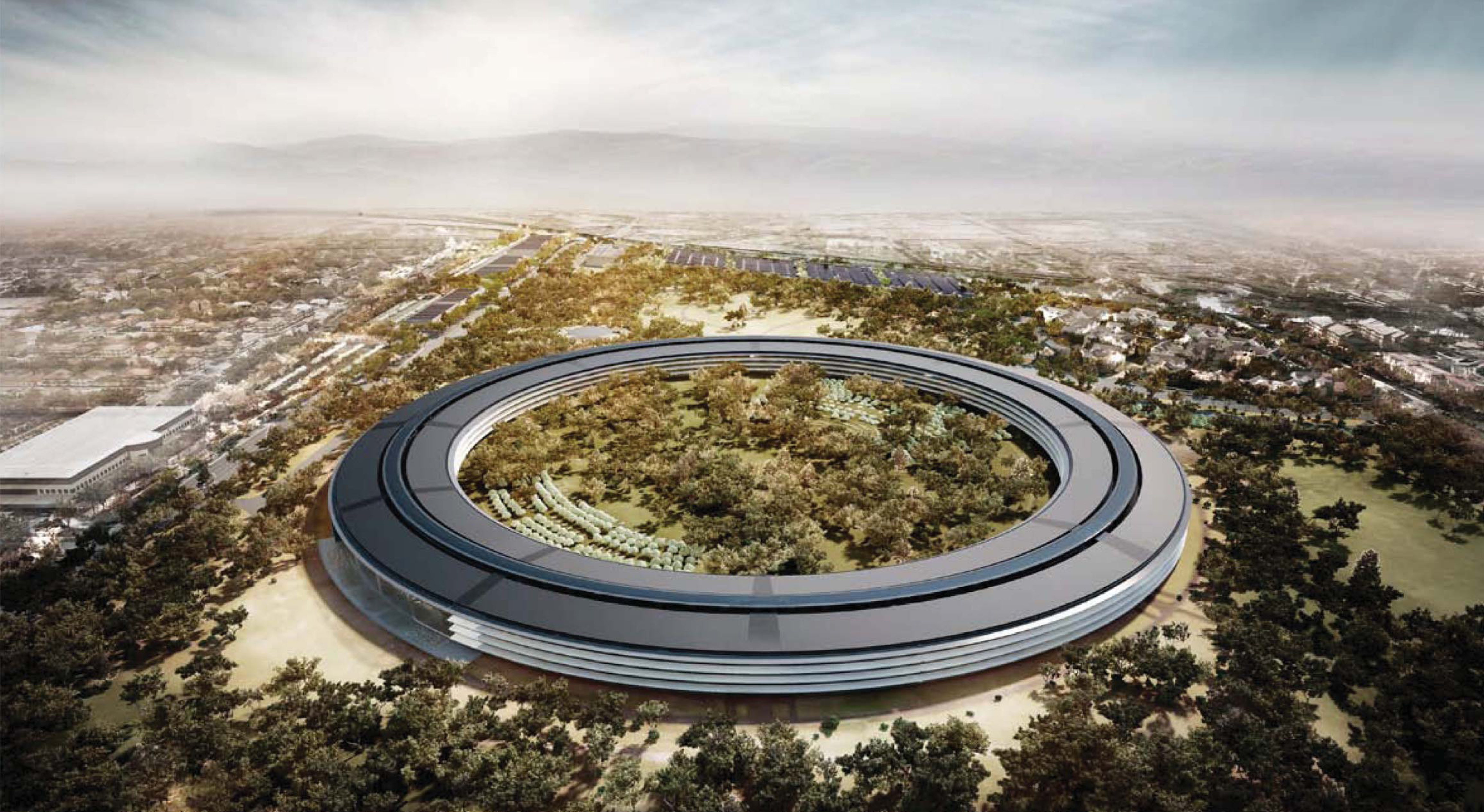 Видео со стройки Apple Campus 2