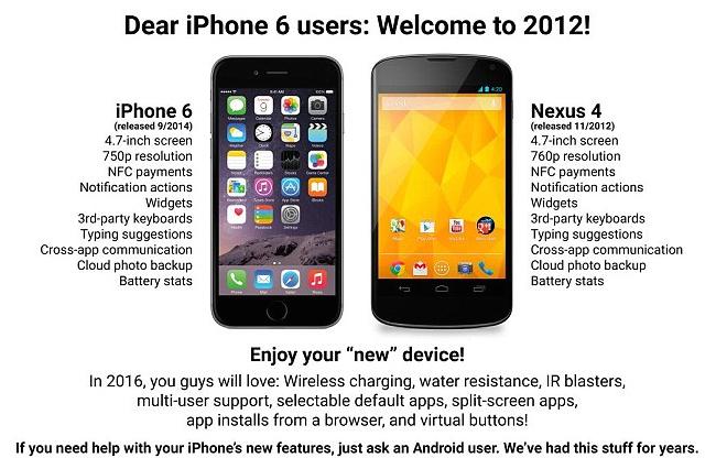 Ответ поклонников iPhone на насмешки со стороны Android
