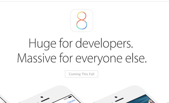 iOS 8 будет доступна для загрузки уже 17 сентября