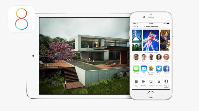 Обновление к iOS 8 начало проходить более активно