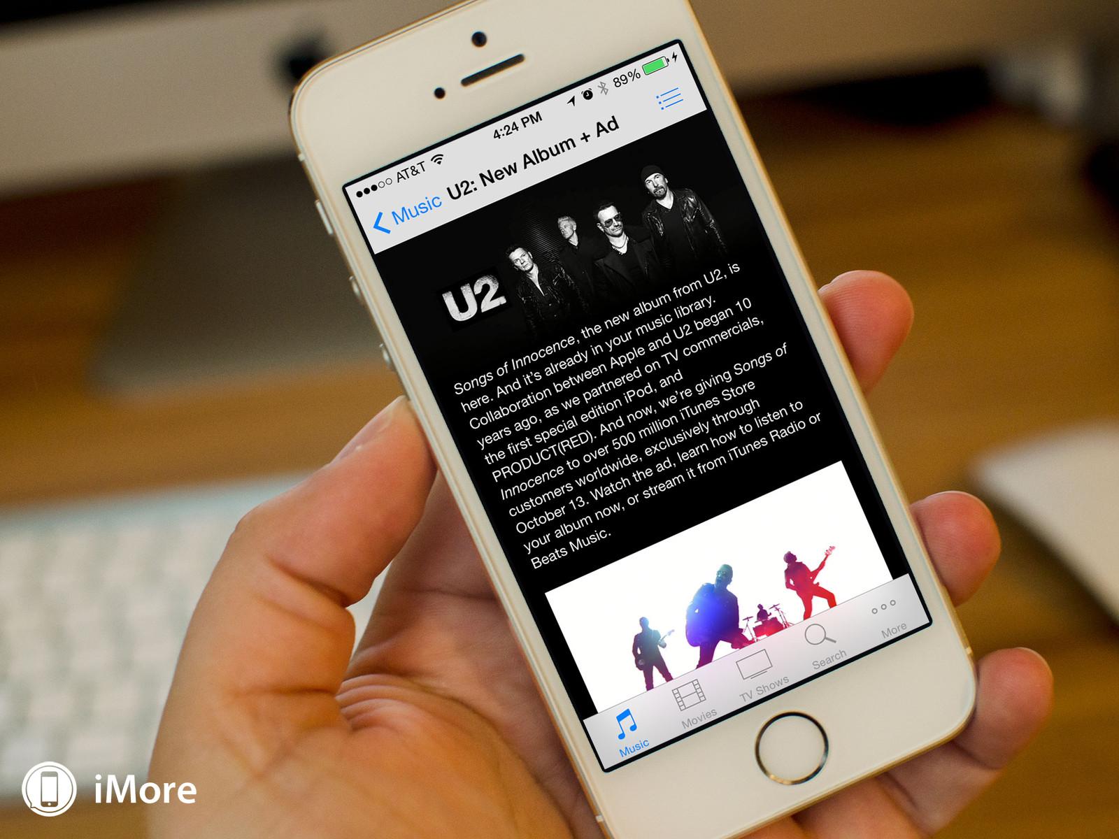 Прячем альбом U2 в библиотеке iTunes (инструкция)