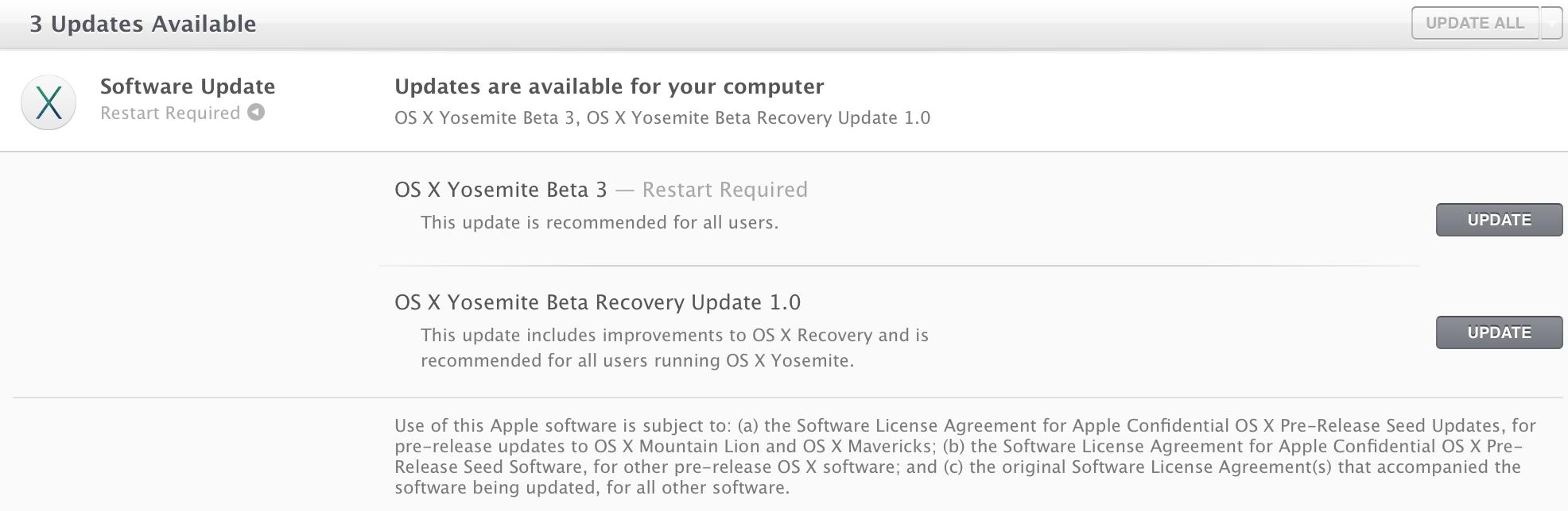 Вышло обновление beta для OS X