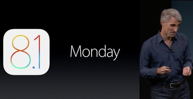 iOS 8.1 выйдет в понедельник