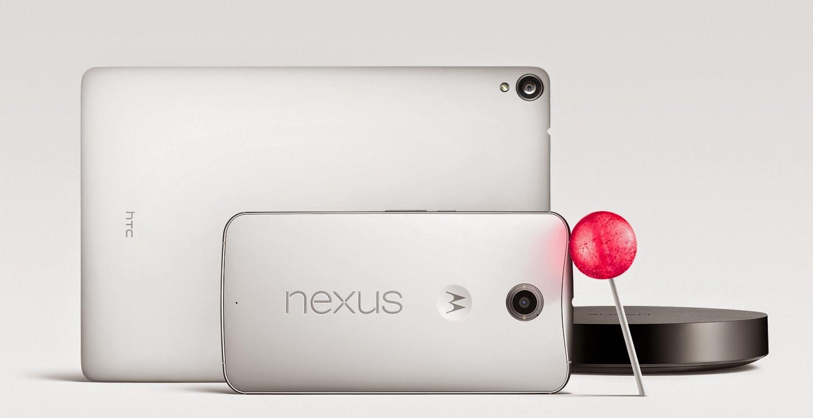 Google показала Nexus 6, Nexus 9 и Nexus Player