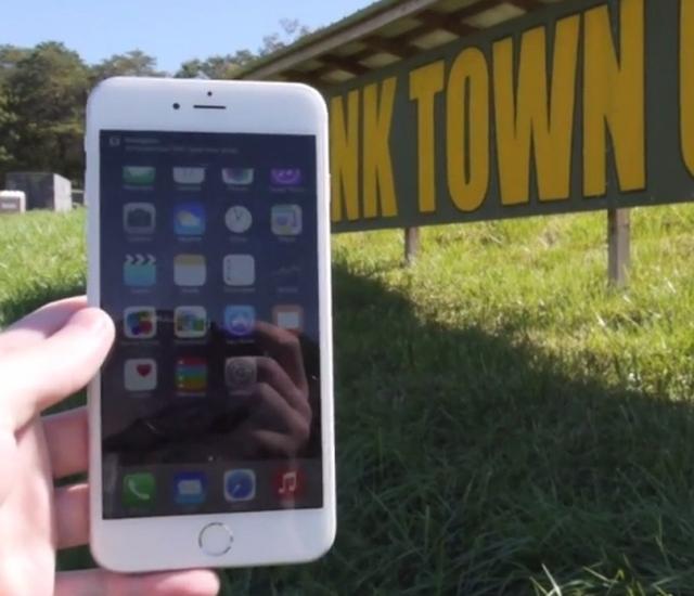 iPhone 6 Plus отправили под танк