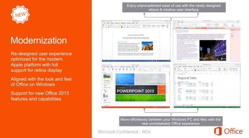 Microsoft обновит офис для Мас в следующем году