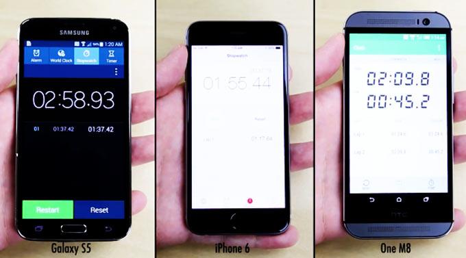 Сравнительный тест флагманов Apple, Samsung и HTC