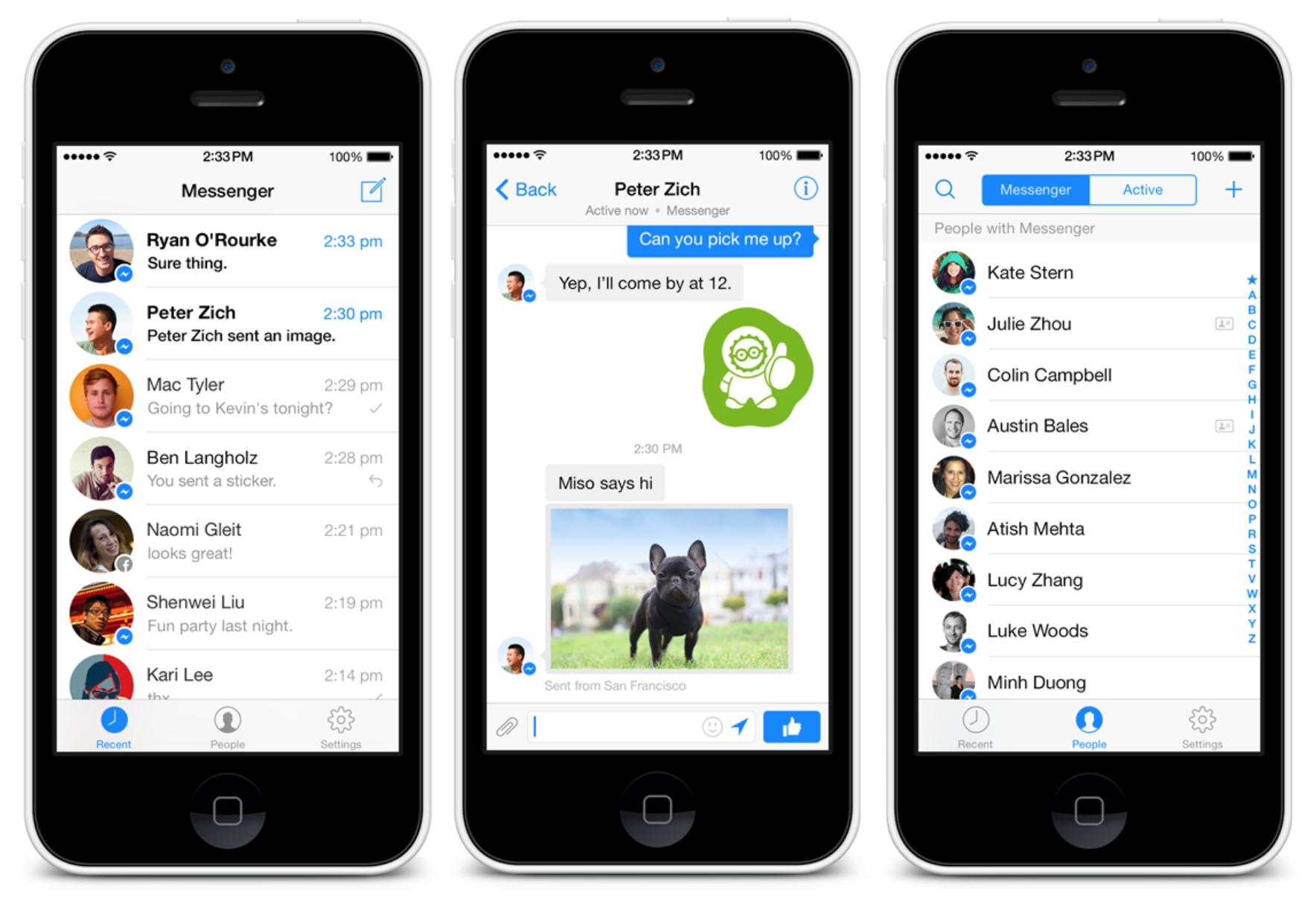 Количество пользователей приложения Messenger достигло 500 млн