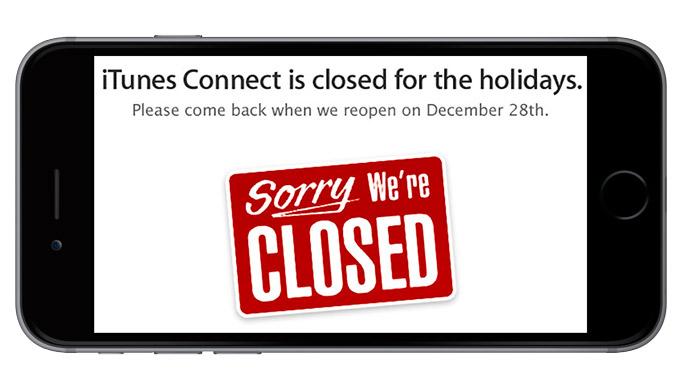 Никаких новых приложений с 22 по 29 декабря