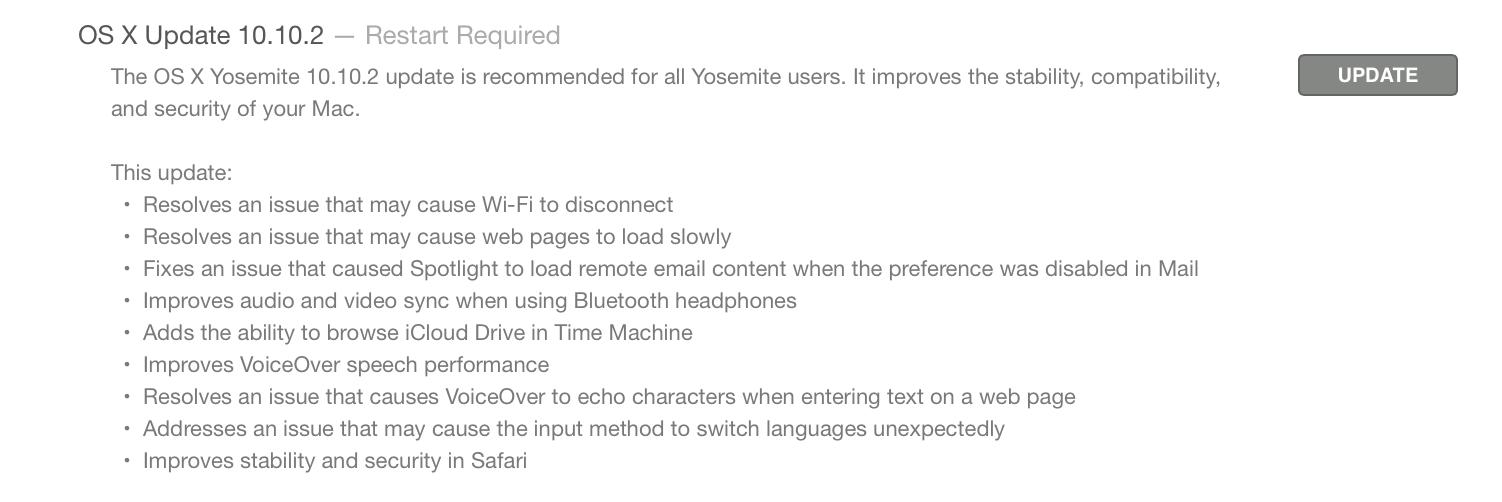 Apple выпустила обновление для iOS и OS X