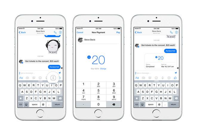 Facebook добавит возможность переводить деньги через свой Messenger