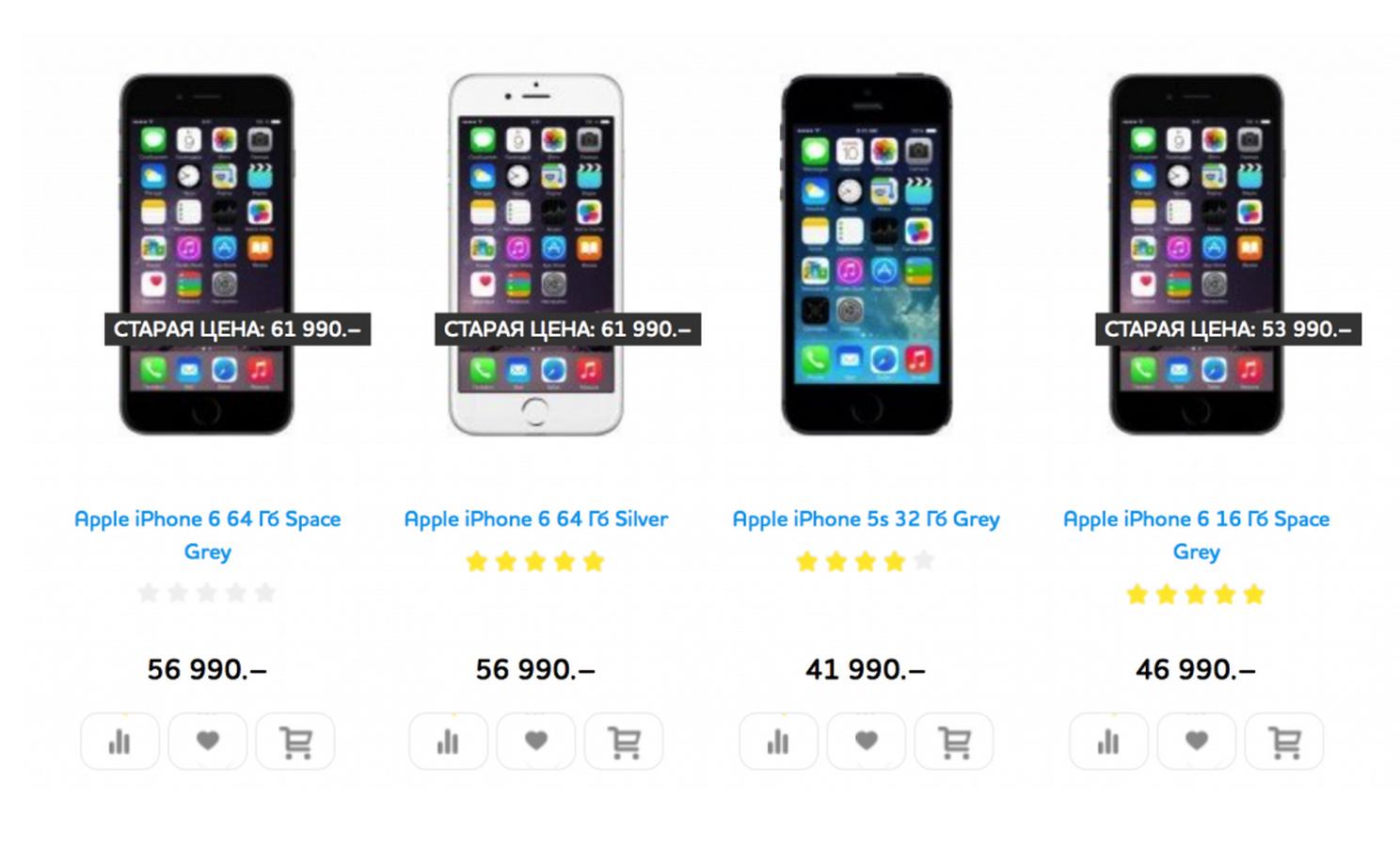 В России опять снизили цены на iPhone 6 и iPhone 6 Plus