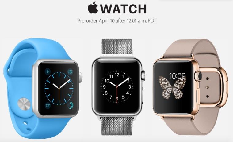 Предварительный заказ на Apple Watch откроют ровно в полночь